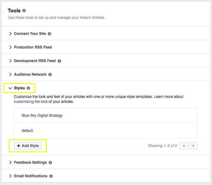 Facebook Instant Articles - Tools